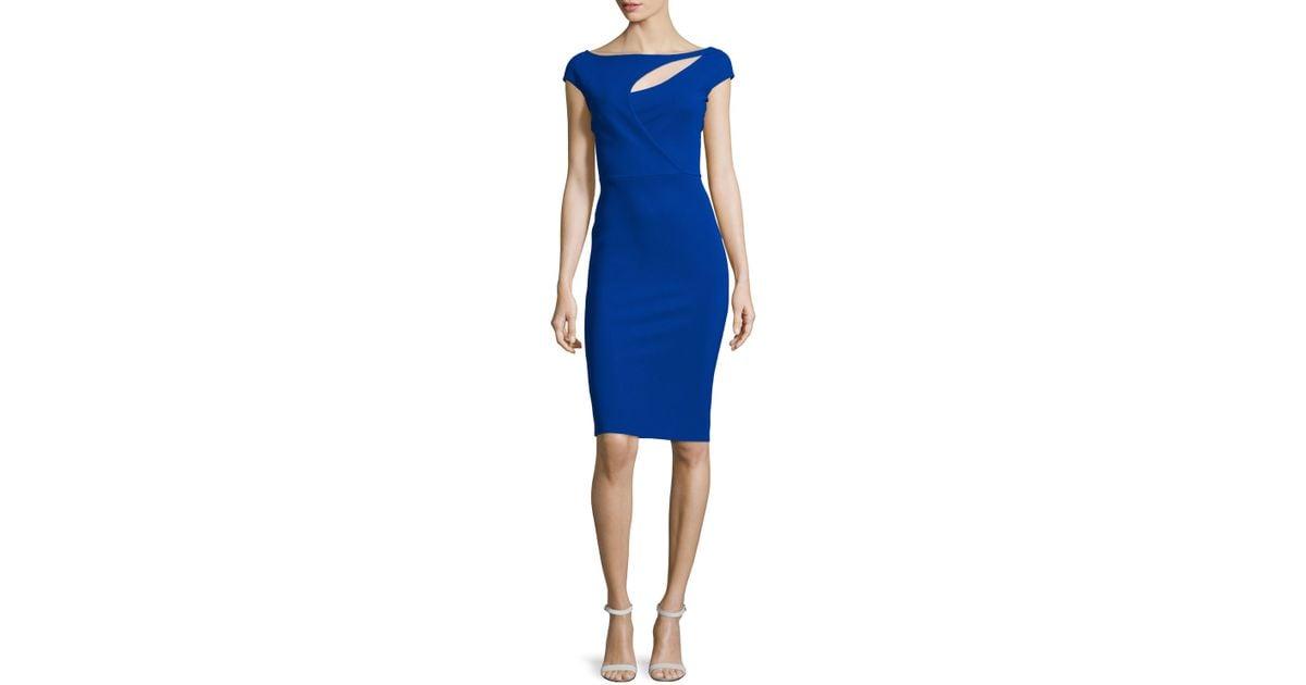 67df7559 Lyst - La Petite Robe Di Chiara Boni Jobeth Cap-sleeve Yoke-cutout Ruched  Dress in Blue