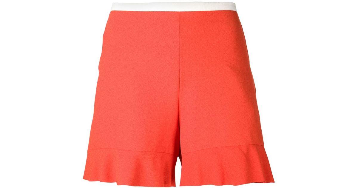 18987984fc See By Chloé Orange Flared Hem Shorts