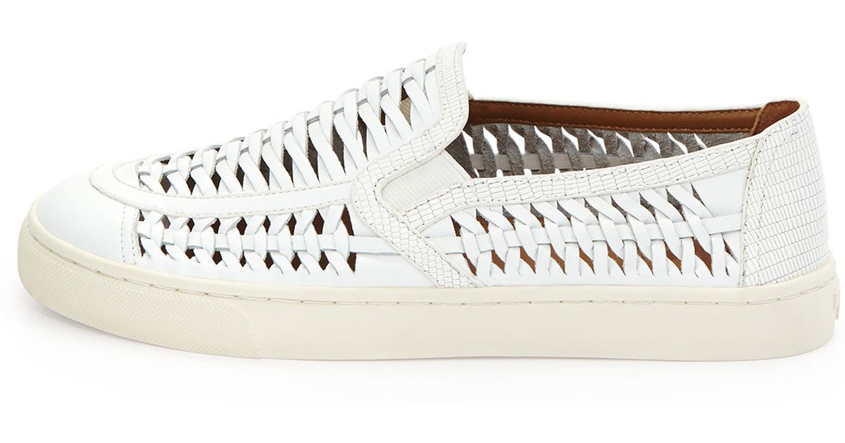 9f7ae4ff4d3d Lyst - Tory Burch Huarache Slip-on Sneaker in Natural