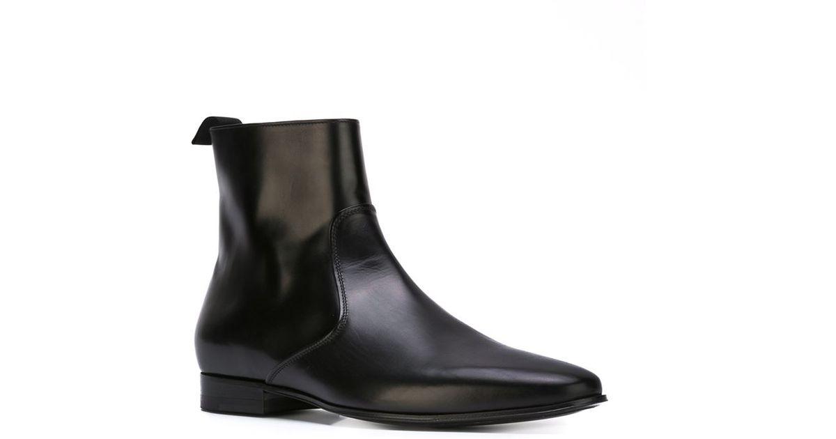 ceae596c2d9 Saint Laurent Black 'hedi' Ankle Boots for men