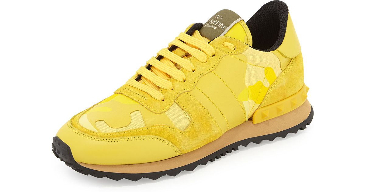 Valentino Camouflage Rockstud Sneaker