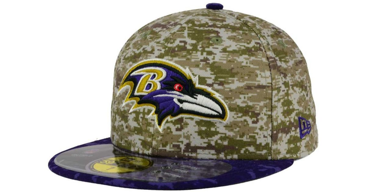 a5aff904 KTZ Green Baltimore Ravens Salute To Service 59fifty Cap for men