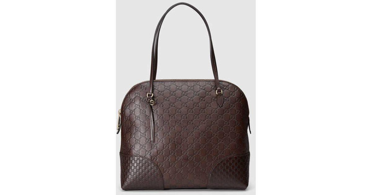 f7ad69e74 Lyst - Gucci Bree Ssima Shoulder Bag in Brown