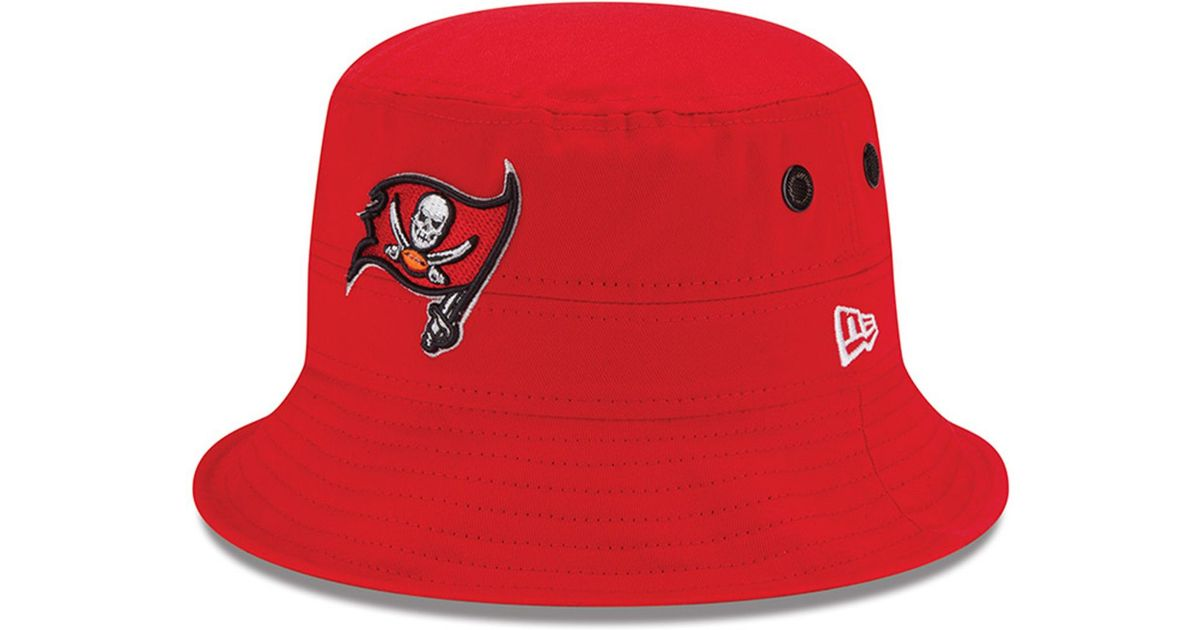 huge selection of 281a4 676c0 ... uk lyst ktz tampa bay buccaneers multi super bowl champ bucket hat in  red for men