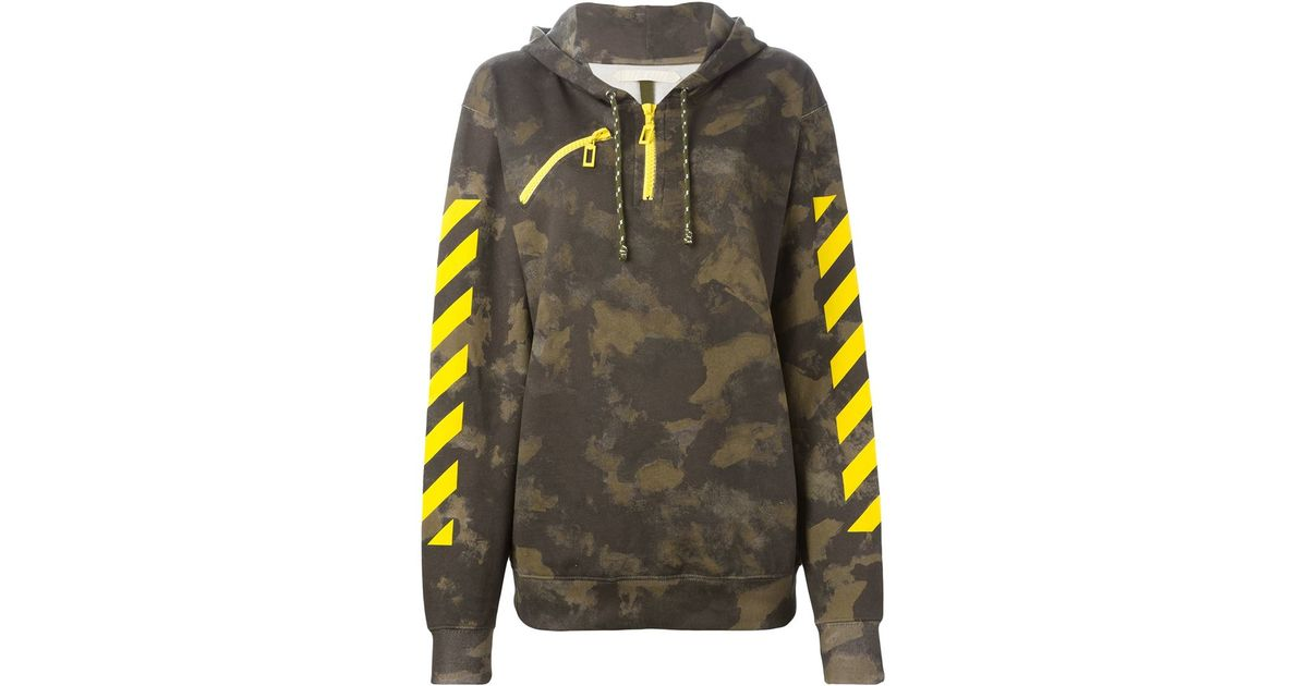 Lyst Off White Co Virgil Abloh Camouflage Print Hoodie In Brown