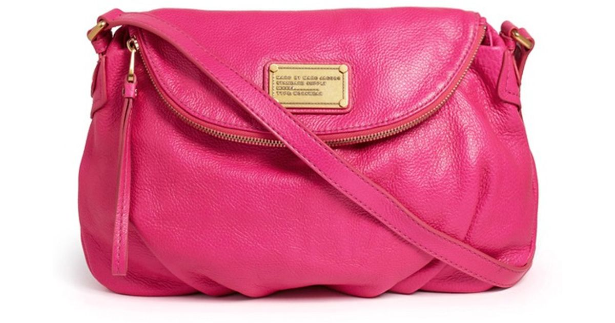 b1a78ea381 Marc By Marc Jacobs Classic Q Natasha Leather Bag in Pink - Lyst