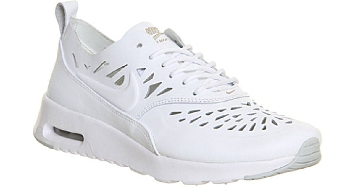 innovative design ae5d0 49a30 Nike Air Max Thea Leather Trainers - For Women in White - Lyst