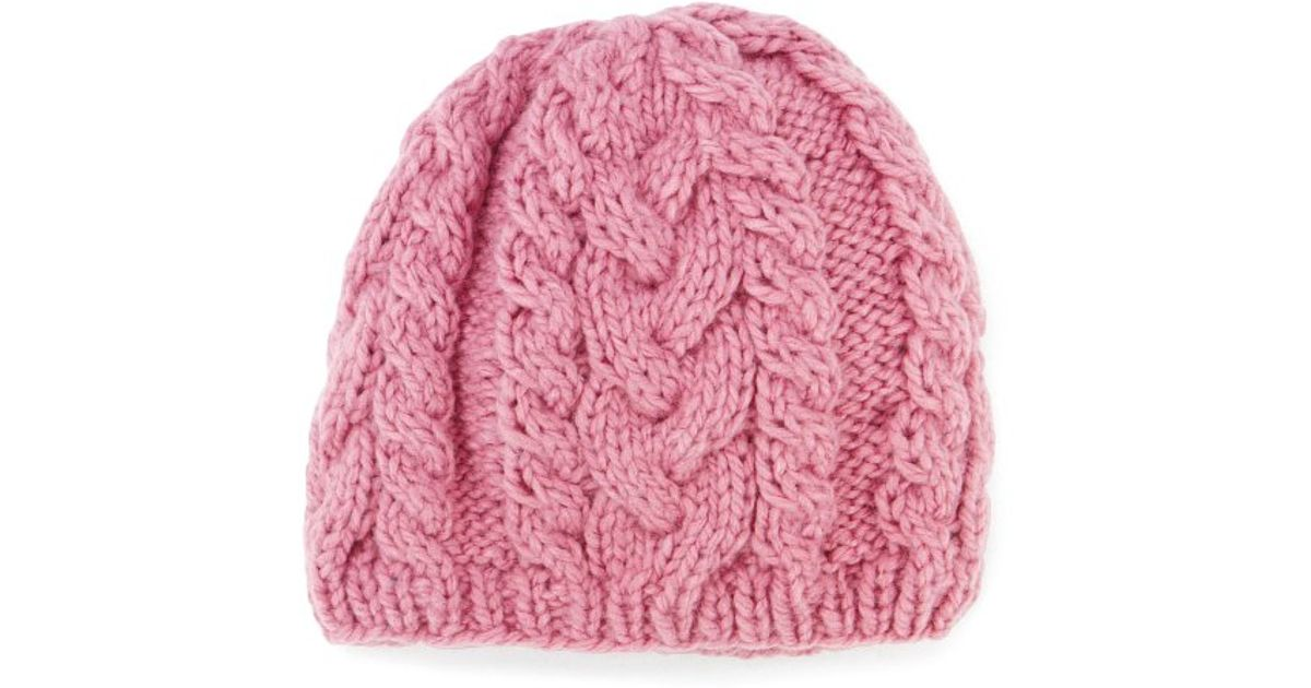 Lyst - San Diego Hat Company Womens Cable Knit Beanie in Pink ae4a94e2253