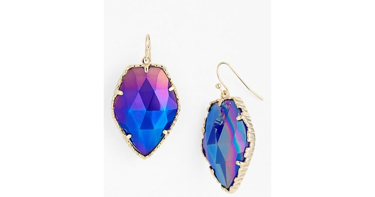 drop stefanie earrings by nana triple shop crystal somers swarovski cobalt pave