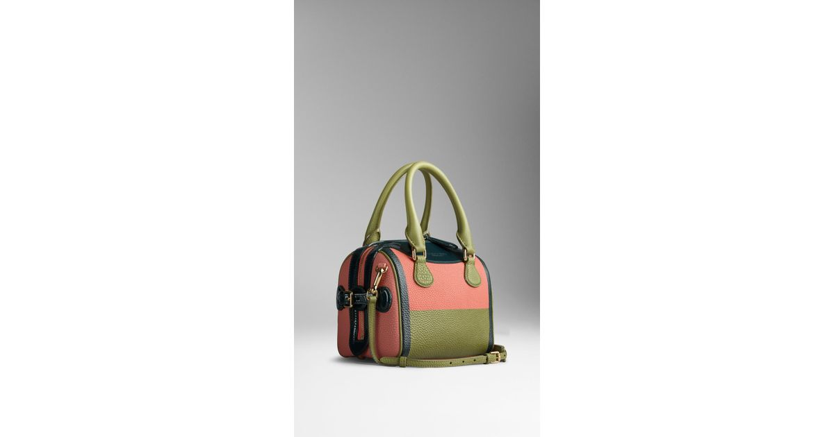 Burberry The Small Alchester In Hand-painted Leather With Patent Trim in  Pink - Lyst 399bb09d8aa0b