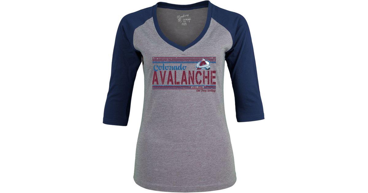 best service c3fdb 9615b Old Time Hockey - Gray Women's Colorado Avalanche Amherst T-shirt - Lyst