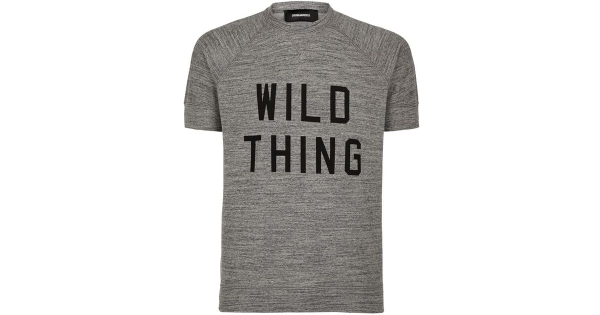 14fb2f8b94be DSquared² Wild Thing Sweatshirt in Gray for Men - Lyst