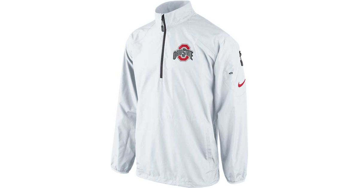 Nike Half Zip Pullover Jacket In White For Men Lyst