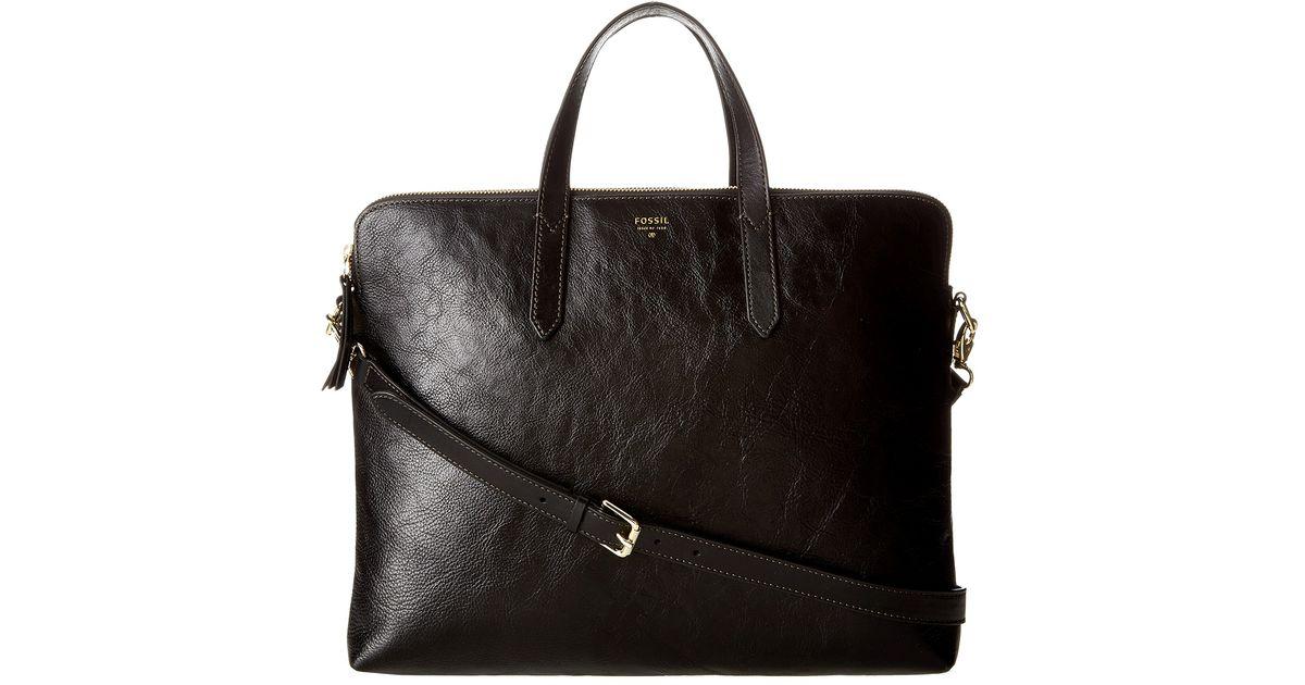 Fossil Black Sydney Laptop Bag