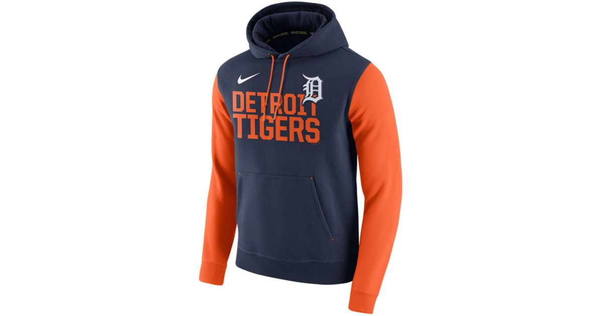 promo code 6b822 71df6 Nike Black Men's Detroit Tigers Pullover Fleece Hoodie for men