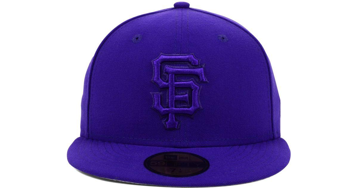on sale 8f9db 62ea5 Lyst - KTZ San Francisco Giants Pop Tonal 59fifty Cap in Purple for Men
