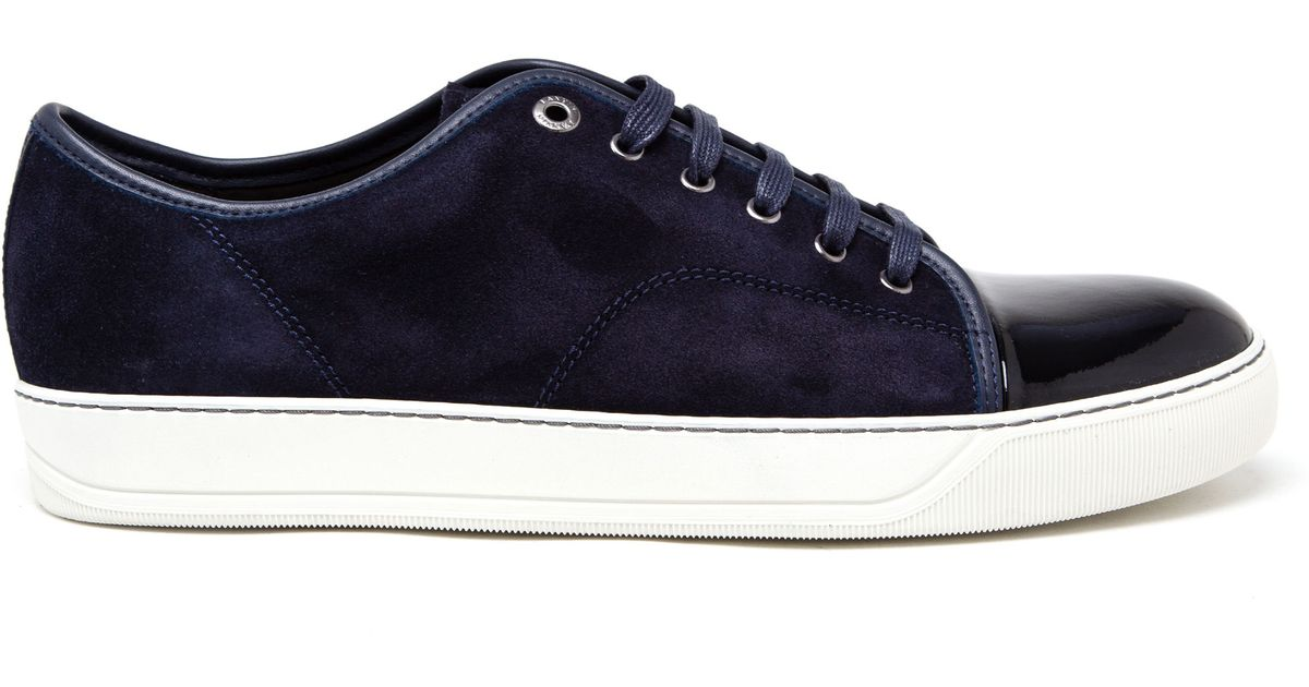 Suede And Canvas Sneakers Lanvin A1Zfq