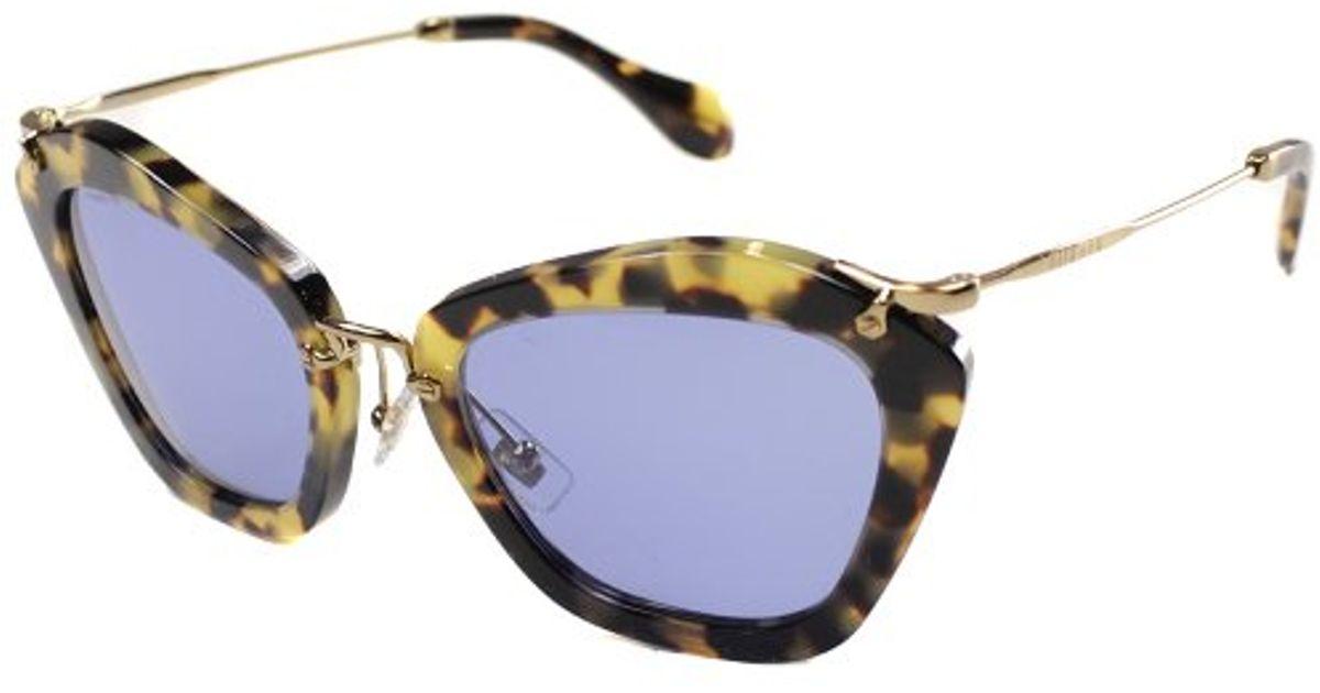 90f050af4bf Lyst - Miu miu Noir Mu 10ns 7s00a2 Sunglasses in Brown
