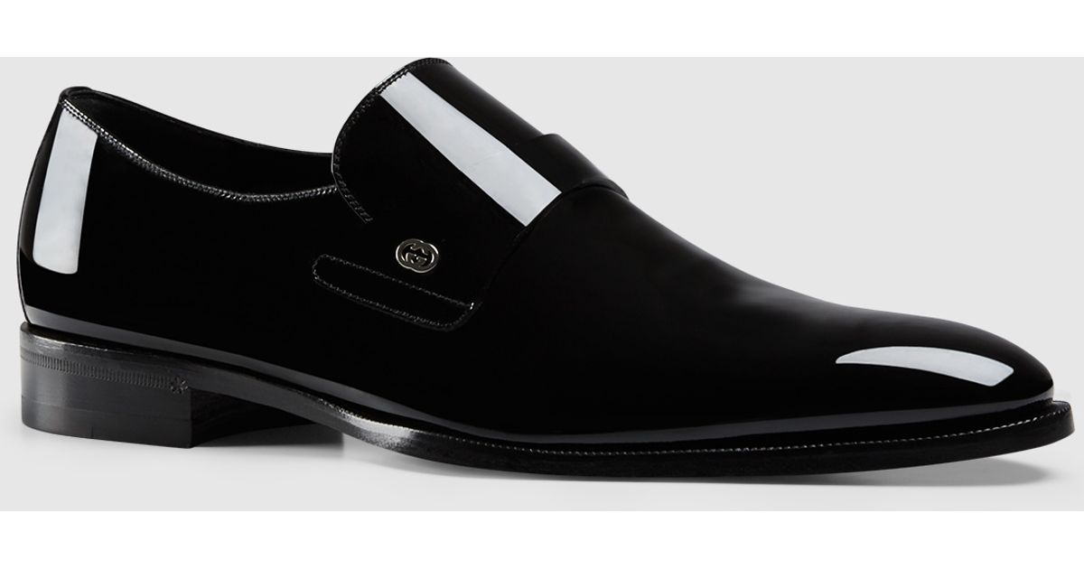 Gucci Patent Leather Loafer in Black