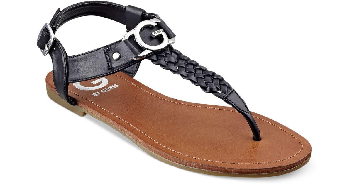 Lyrikk Guess Thong G By Black Women's Flat Sandals 0OP8nkXwZN