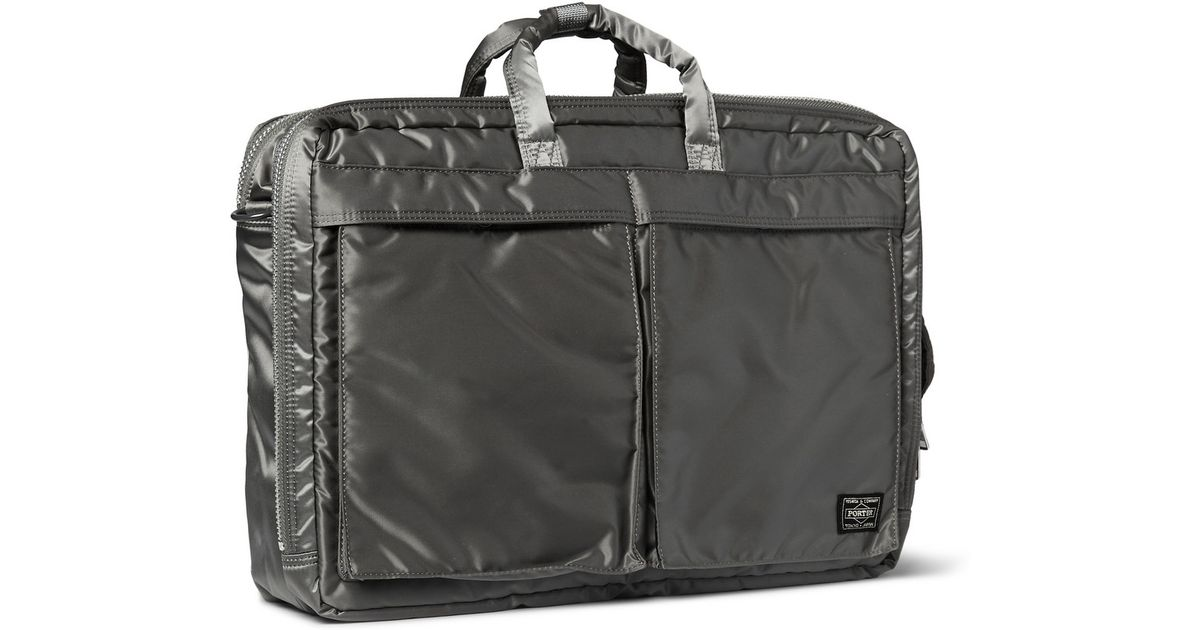 cd1914939703 Porter Porter Quilted Satin Convertible Backpack in Metallic for Men - Lyst
