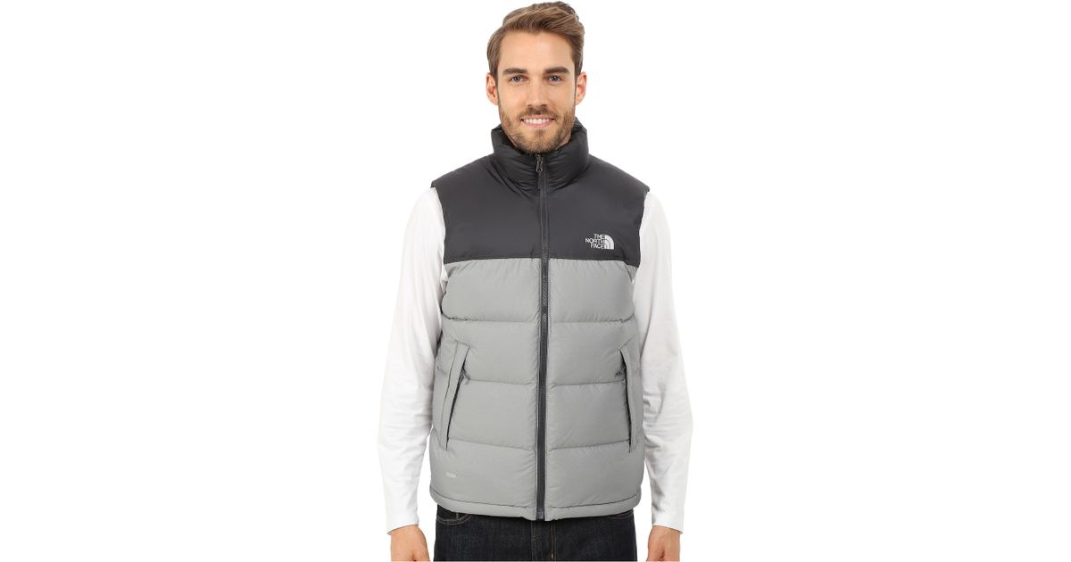 c40899616db8 france lyst the north face nuptse vest in gray for men 37168 6c54b