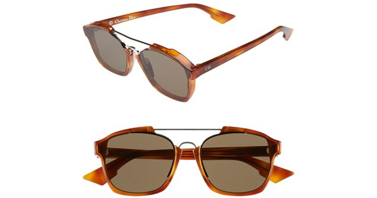 85f37d6c8ff Lyst - Dior  abstract  58mm Sunglasses - Light Havana  Brown in Brown