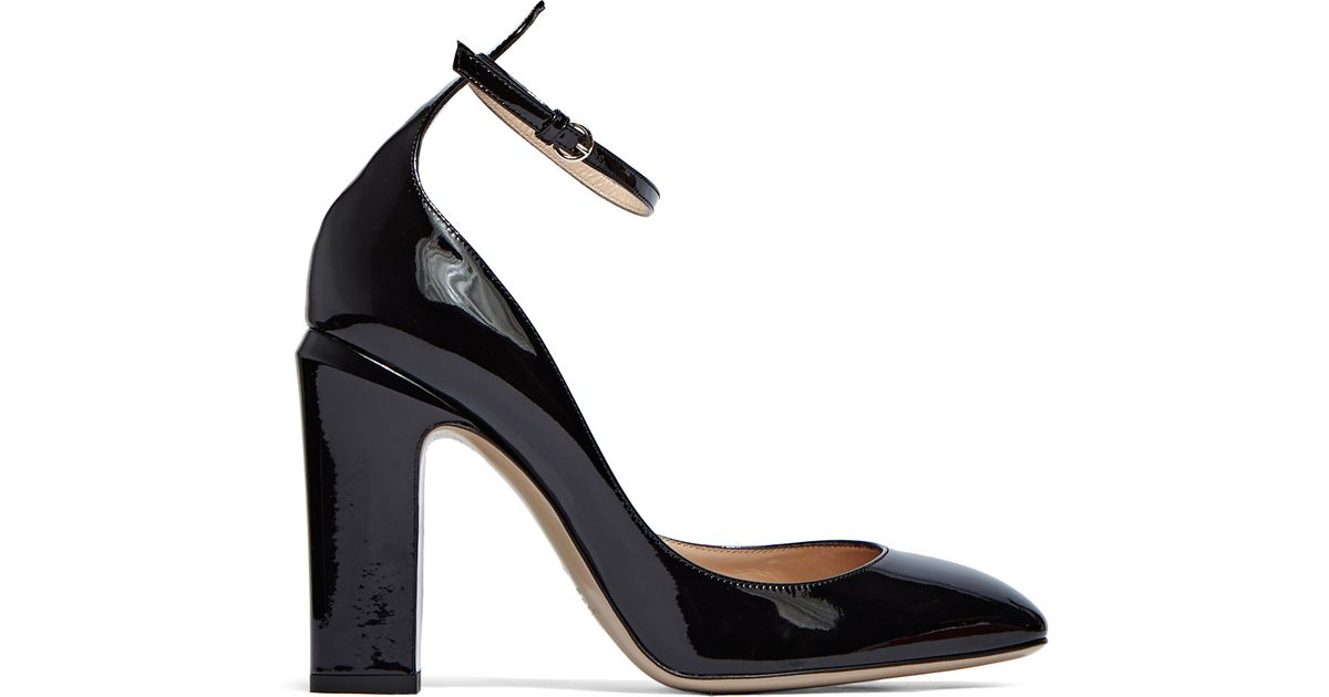 Valentino Women s Patent Heeled Mary Jane Pumps In Black in Black - Lyst
