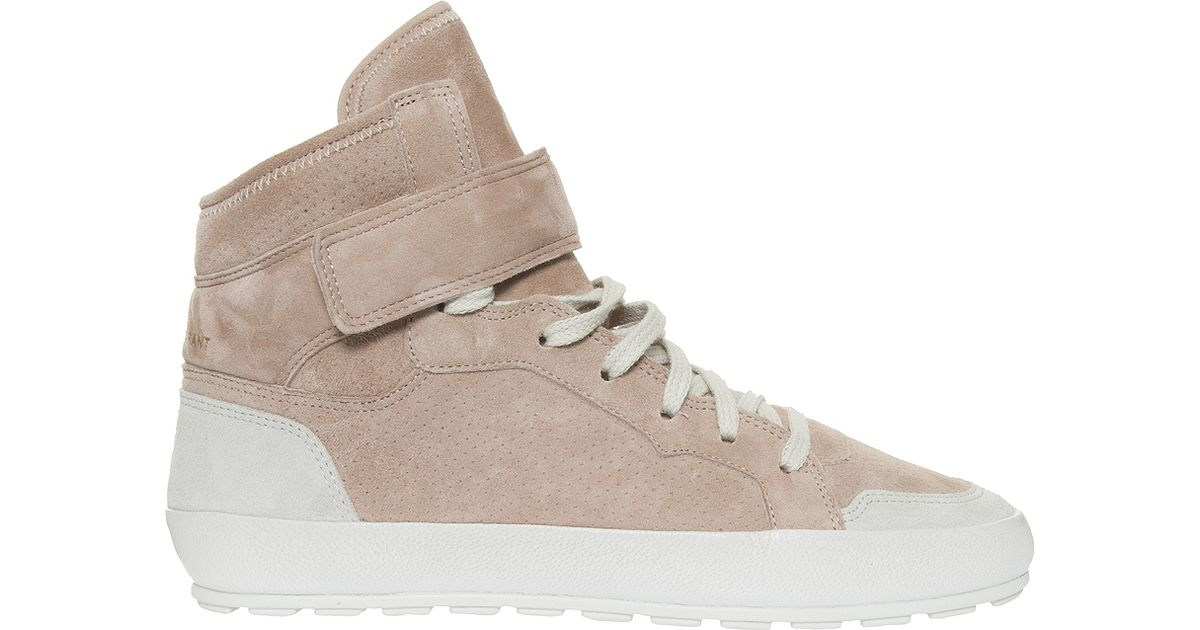 toile isabel marant bessy sneakers in pink lyst. Black Bedroom Furniture Sets. Home Design Ideas