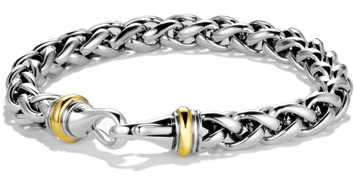 Lyst David Yurman Large Wheat Chain Bracelet With Gold In Metallic For Men