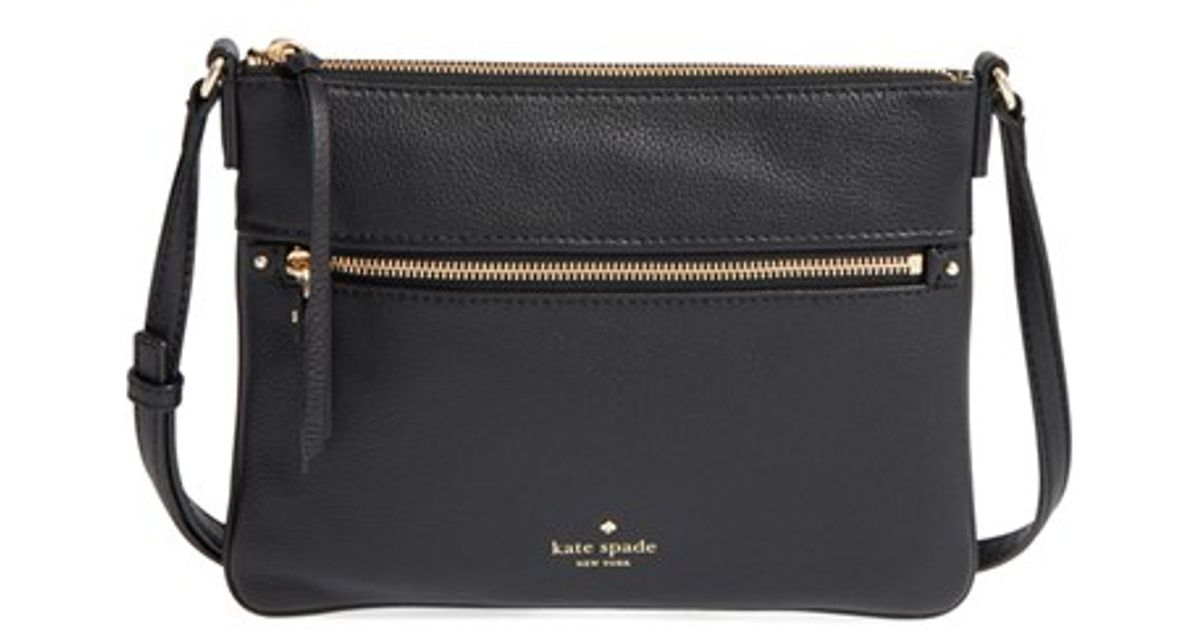 Lyst Kate Spade New York Cobble Hill Gabriele Pebbled Leather Crossbody Bag In Black