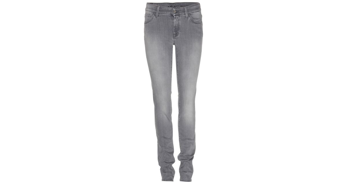 7 for all mankind cristen skinny jeans in gray lyst. Black Bedroom Furniture Sets. Home Design Ideas