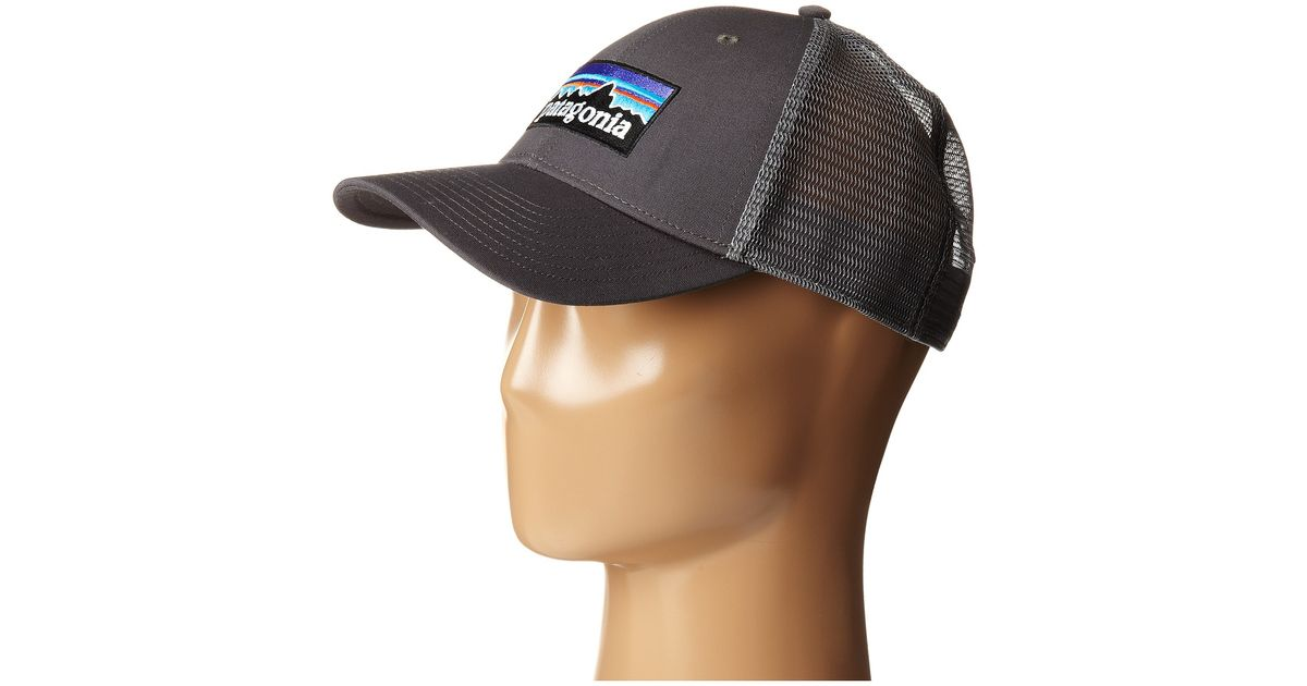 08033200f68b0 Patagonia P6 Lopro Trucker Hat in Gray for Men - Lyst