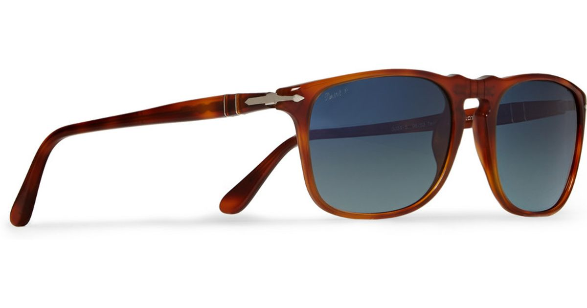 788313a7d2e7 Persol D-Frame Polarised Acetate Mirrored Sunglasses in Brown for Men - Lyst