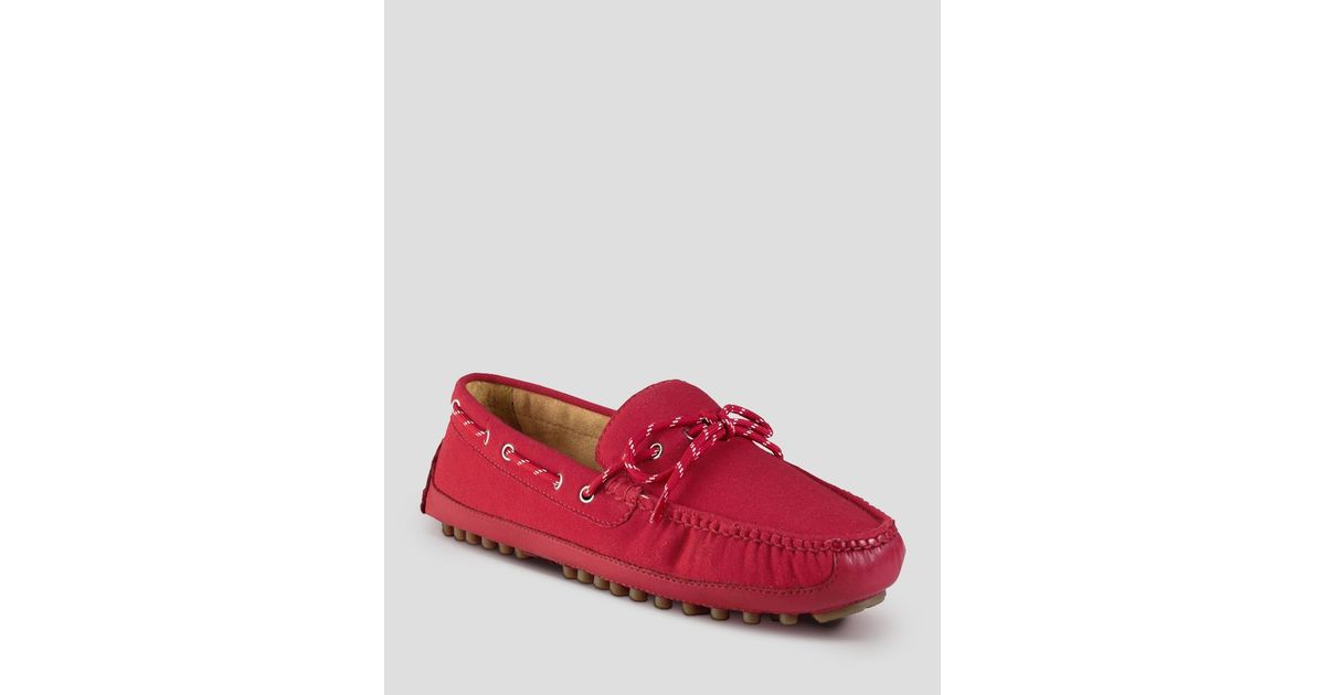 1d108a0f122f5 Lyst - Cole Haan Grant Canoe Camp Canvas Moc Driving Loafers in Red for Men