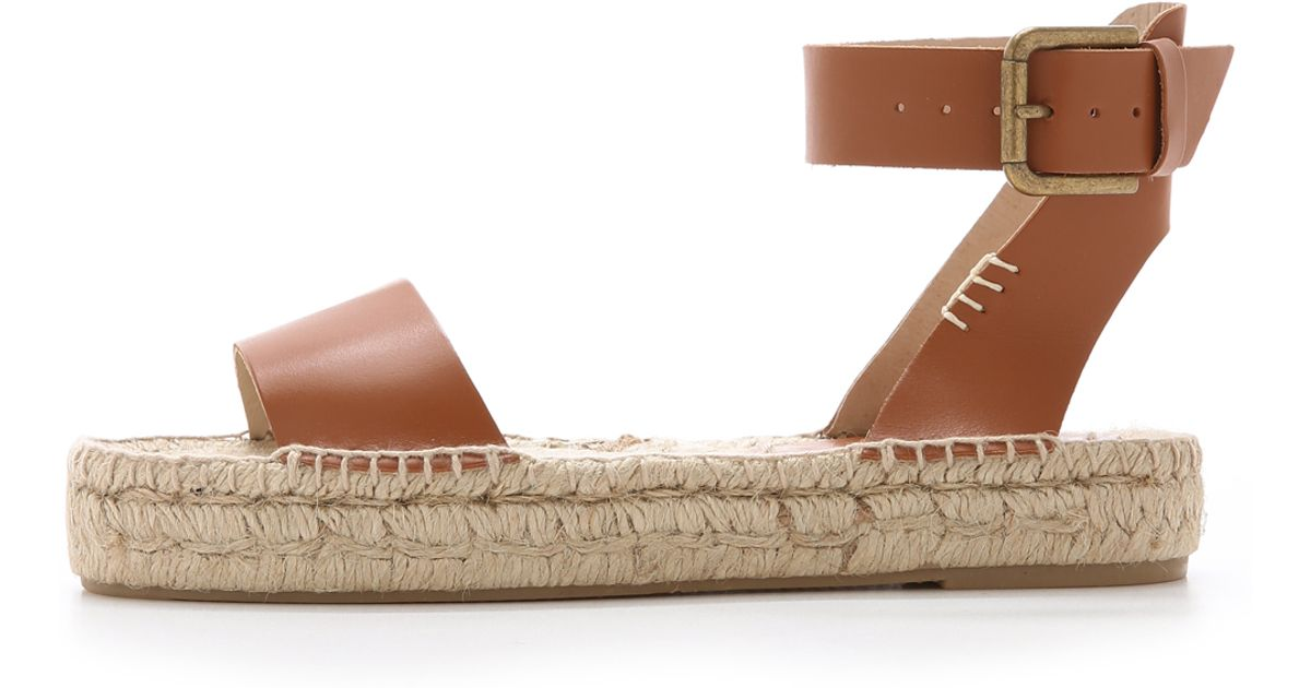 ead22039a07 Soludos Platform Open Toe Sandals in Brown - Lyst