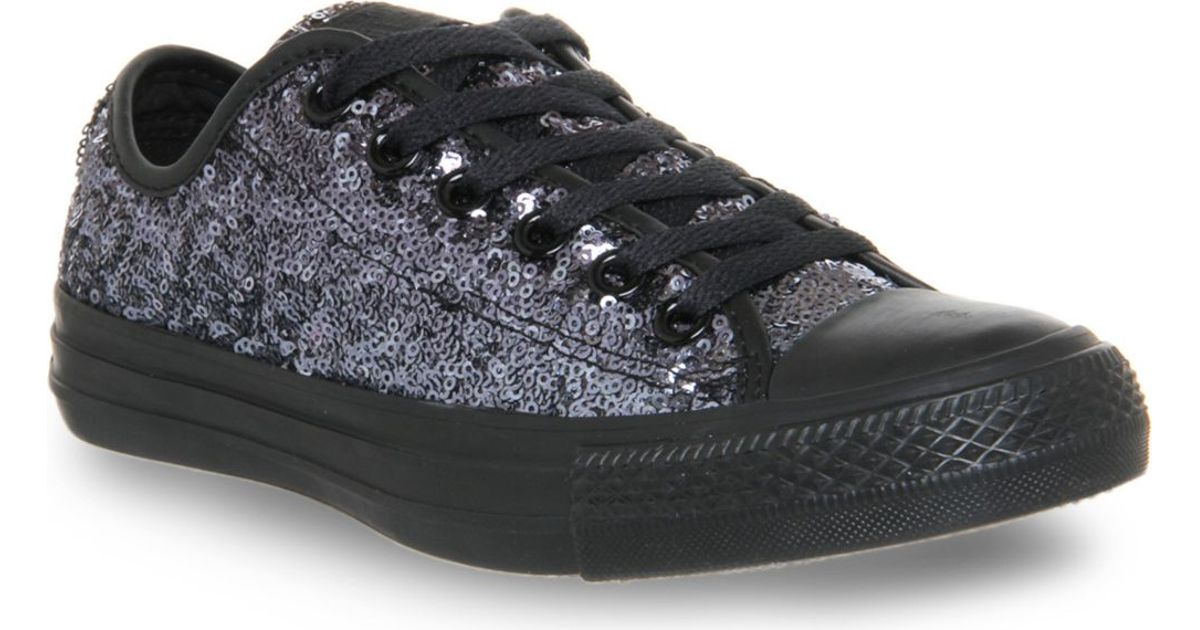 ed2a2f3b63879a Converse All Star Low-top Sequin Trainers in Gray - Lyst