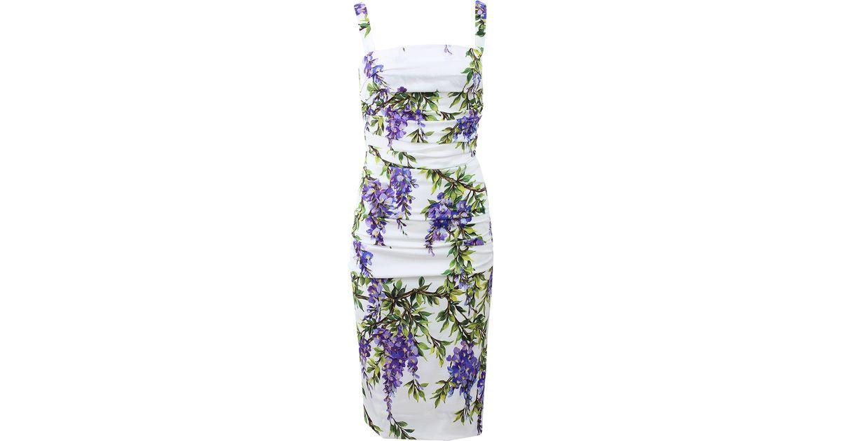 819fd972 Lyst - Dolce & Gabbana Ruched Wisteria Dress