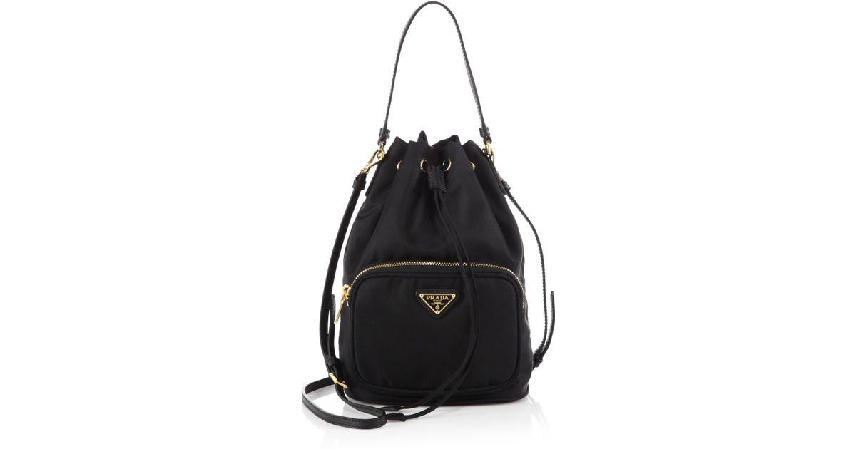 8f26e5fc83b sweden prada tessuto black nylon backpack fcd69 39231  top quality lyst  prada tess drawstring nylon pouch crossbody bag in black c7b90 ff10f