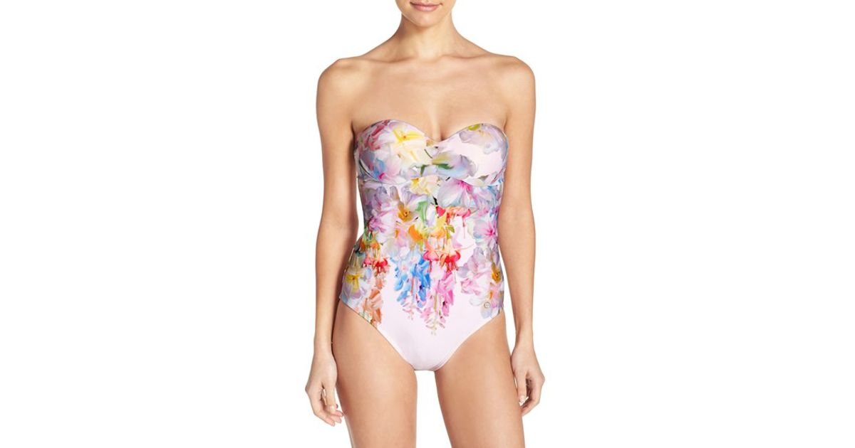 Ted baker Layaya Convertible One-piece Swimsuit in ...
