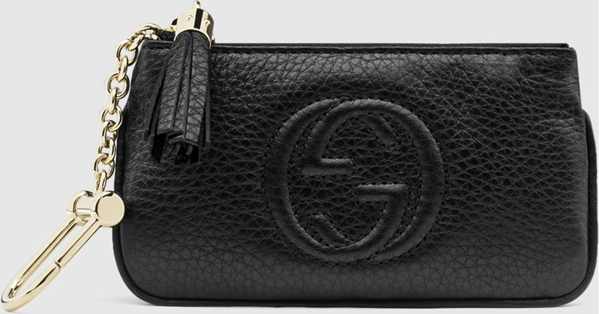Lyst - Gucci Soho Leather Key Case in Black be6dcae86