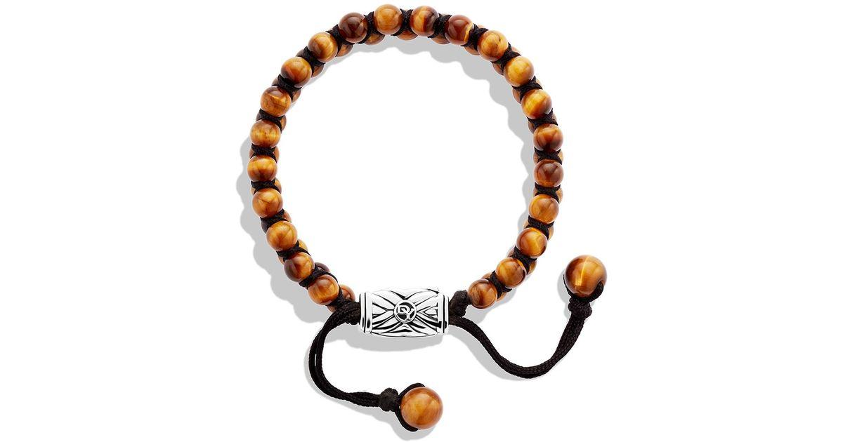 e25593c569718 David Yurman Orange Spiritual Beads Two-Row Bracelet With Tiger'S Eye for  men