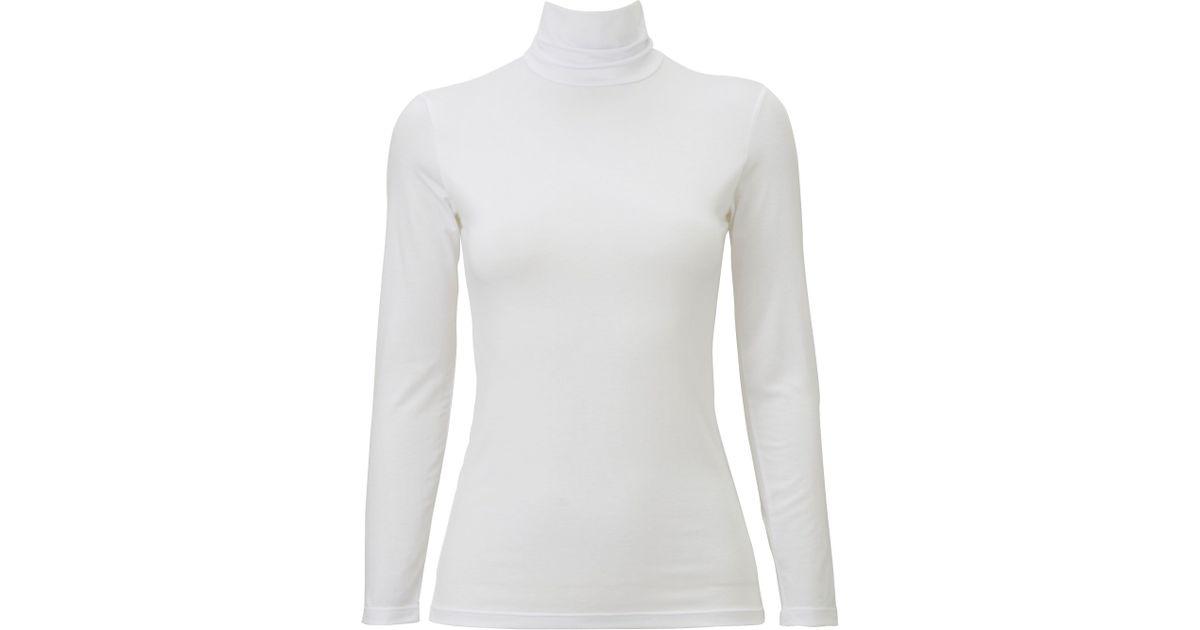 99ff2913 Lyst - Uniqlo Women Heattech Turtleneck Long Sleeve T-shirt in White