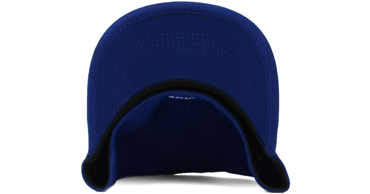 free shipping 421a1 d5c3b ... hot lyst ktz edmonton oilers nhl lined over flex 39thirty cap in blue  for men 13104
