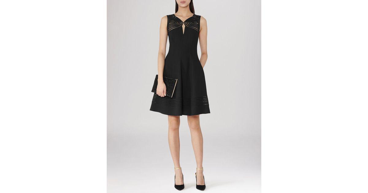 Lyst Reiss Dress Clark Cut Out In Black