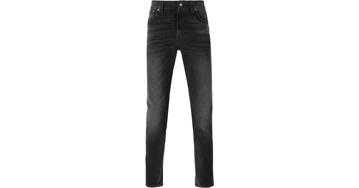 Nudie jeans Stone Washed Jeans in Black for Men | Lyst