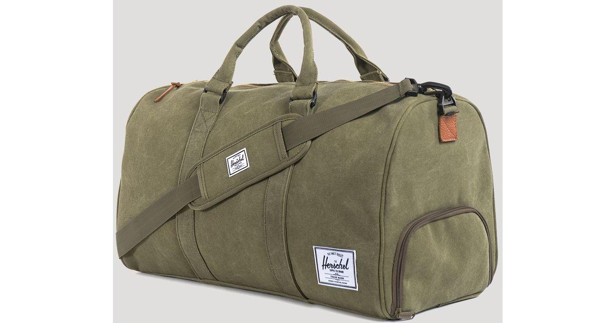 d1609c98f98c3 Lyst - Herschel Supply Co. Cotton Canvas Novel Duffel Bag in Green for Men