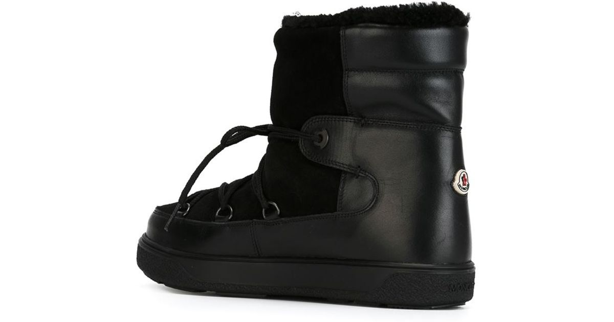 f3c2e782b766 Lyst - Moncler  Fanny  Snow Boots in Black