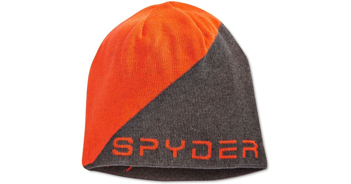 a8a5d82733c Lyst - Spyder Logo Jacquard Beanie in Orange for Men