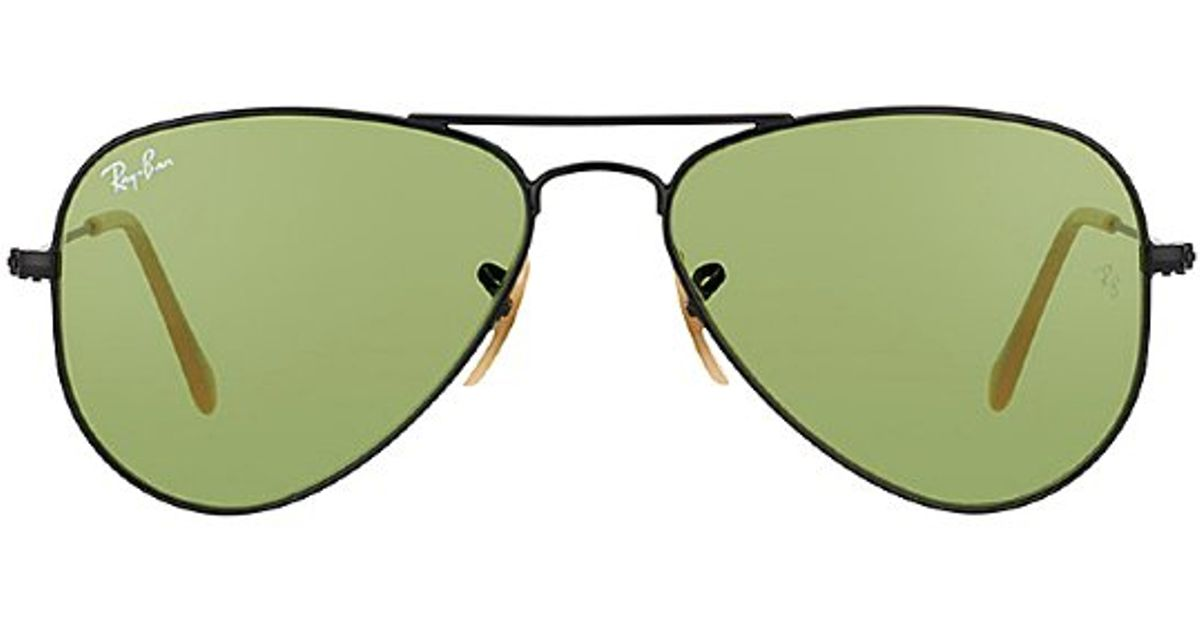 05721d1cbf1cb ... official ray ban ray ban rb3044 metal aviator 006 14 matte black petite  fit sunglasses light